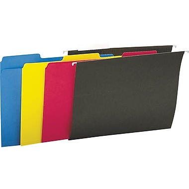 Staples Interior File Folders, Letter, Assorted, 100/Box