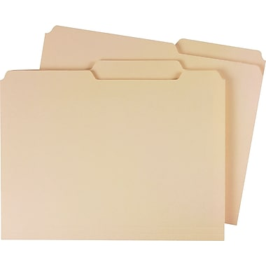 Staples Guide-Height Manila File Folders, Letter, Extreme Right, 100/Box