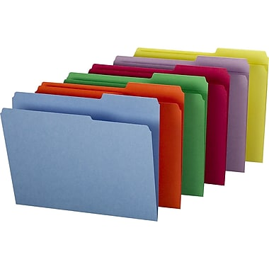 Staples® Guide-Height Colored Reinforced File Folders