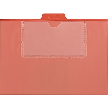 Smead® Red Vinyl Pocket Top-Tab Outguide, Letter Size