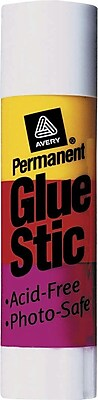 Avery Permanent Glue Stics Clear Regular Size .26 oz.
