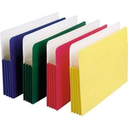 "Staples Colored Expanding File Pockets, 5 1/4"" Expansion, Legal, Assorted, 5/Pack"