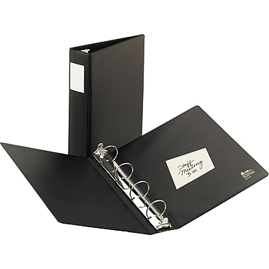 2in. Avery® 8-1/2in. x 14in. Legal 4 Round Ring Binder, Black
