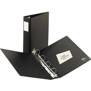 2 Avery® 8-1/2 x 14 Legal 4 Round Ring Binder, Black