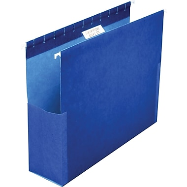 Pendaflex® Hanging Pockets, Letter, 2in. Expansion, Blue, 25/Box