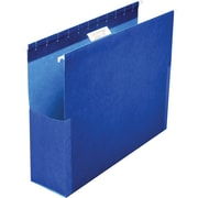 "Pendaflex® SureHook® Reinforced Hanging Box Files, 2"" Expansion, Letter Size, 1/5-Cut Tabs, Blue, 25/Box (59202)"