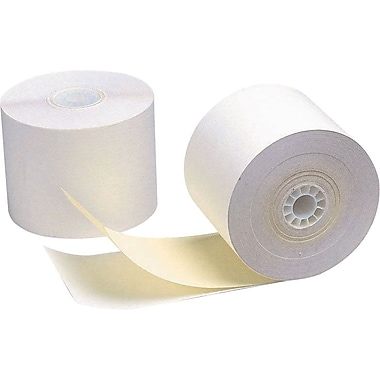 Staples 2-Part Adding Machine Roll, 2 1/4in. x 100', White/Canary