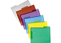 Staples® Translucent Poly File Folders
