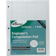 Ampad Evidence® Engineer's 5 x 5 Quadrille Pad, 100 Sheets/Pad