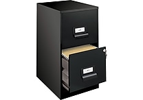 Office Designs 18' Deep, 2 Drawer, Vertical File w/ Integrated Label Holder, Letter Size