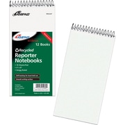 Ampad® Earthwise 100% Recycled Reporter Notebook, White, Gregg Ruled, 4 x 8, 12/Pack