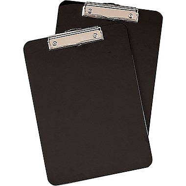 Staples® Clipboards, Black, 2/Pack, 9in. x 12in.