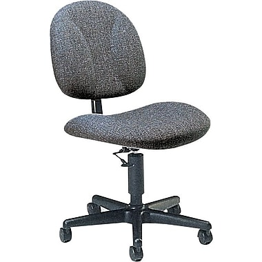 Global Deluxe Fabric Armless Task Chair, Gray