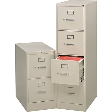 HON® 510 Series 25in. Deep Commercial Full-Suspension Vertical File Cabinets, Letter Size
