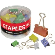 Staples® Colored Metal Binder Clips
