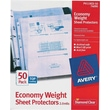 Avery Diamond Clear Economy Weight Sheet Protectors, 50/Pack