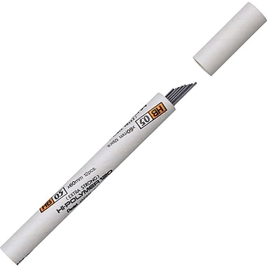 Pentel Premium Hi-Polymer® Lead Refills, 0.5mm, 2B, 12 Leads
