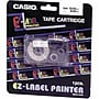 Casio Labeler Tape, Black on White, 24mm