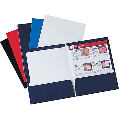 Staples 2-Pocket Laminated Folders