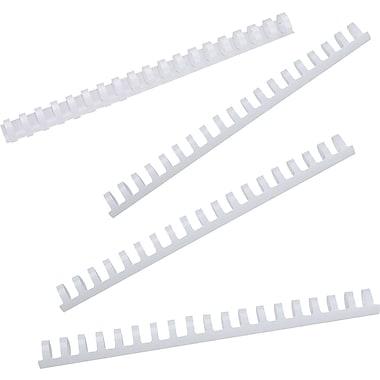 GBC® - Bandes de reliure CombBind, 3/8 po, blanches, bte/100