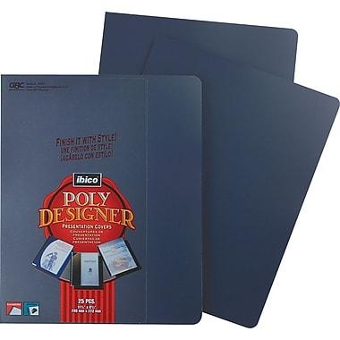GBC Designer Premium Plus Presentation Back Covers, Navy, 25/Pack