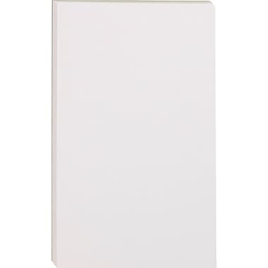 Staples Glue-Top Notepads, 3in.x 5in., White