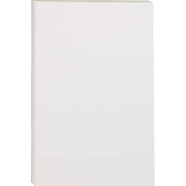 Staples Glue-Top Notepads, 4in. x 6in., White