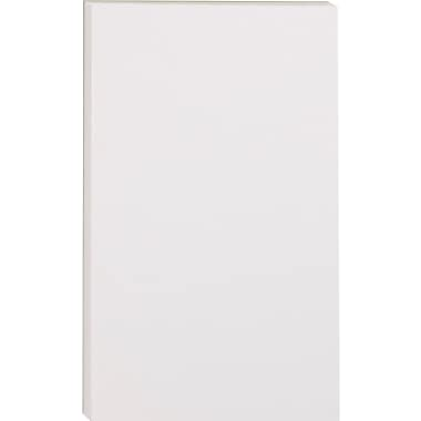 Staples Glue-Top Notepads, 5in. x 8in., White
