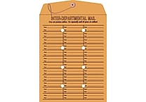 Staples® 10' x 13' Brown Kraft Button-and-String Inter-Departmental Envelopes, 100/Box