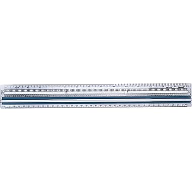 Westcott Data Processing Magnifying Rulers, Clear