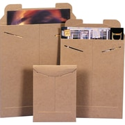 Staples® StayFlat® Kraft Mailers, 7 x 9, 100/Case