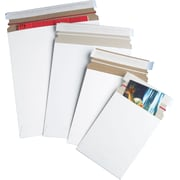 Staples® QuickStrip™ StayFlat White Mailers, 5-1/8 x 5-1/8, 200/Case