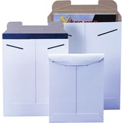 Staples® StayFlat® White Mailers, 8-1/2 x 10-1/2, 100/Case