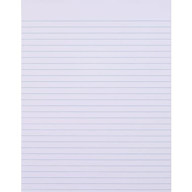 Staples®, 8-1/2in. x 11in., White, Glue-Top Notepad, Narrow Ruled, 12/Pack