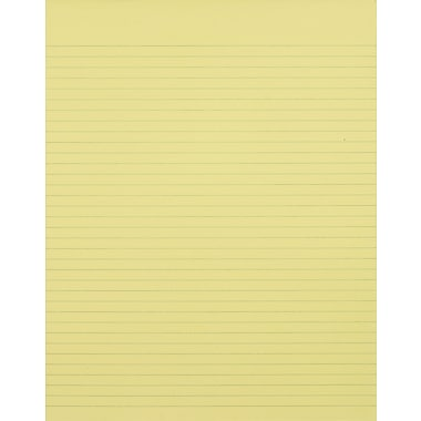 Staples®, 8-1/2in. x 11in., Canary, Glue-Top Notepad, Narrow Ruled, 12/Pack