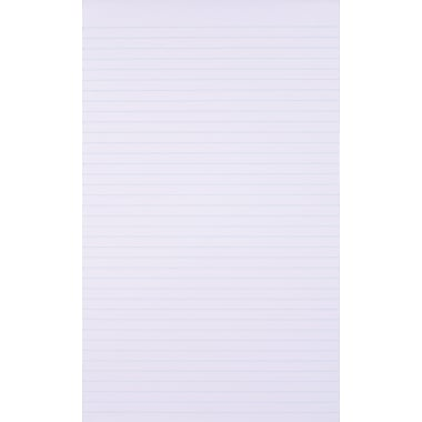 Staples®, 8-1/2in. x 14in., White, Glue-Top Notepad, Wide Ruled, 12/Pack