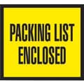 Staples Packing List Envelopes, 4-1/2in. x 5-1/2in., Yellow Full Face in.Packing List Enclosedin., 1000/Case