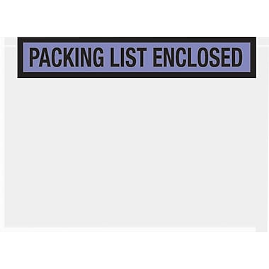 Staples Packing List Envelopes, 7in. x 5-1/2in., Blue Panel Face in.Packing List Enclosedin.