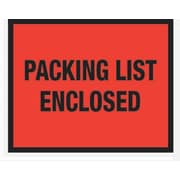 Staples® Packing List Envelopes, 7 x 5-1/2, Red Full Face Packing List Enclosed, 1000/Case