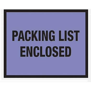Staples Packing List Envelopes 7in. x 5-1/2in., Blue Full Face in.Packing List Enclosedin., 1000/Case