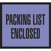 "Staples® Packing List Envelopes, 4-1/2"" x 5-1/2"", Blue Full Face ""Packing List Enclosed"", 1000/Case"