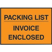 Staples® Packing List Envelopes, 4-1/2 x 5-1/2, Orange Full Face Packing List/Invoice Enclosed, 1000/Case