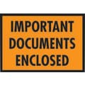 Staples Packing List Envelopes, 5-1/4in. x 7-1/2in., Orange Full Face in.Important Document Enclosedin.