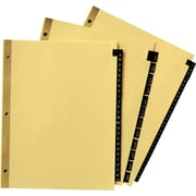 "Avery® Gold Reinforced  Black Leather Tab Dividers, 8 1/2"" x 11"", Jan-Dec"