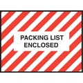 Staples Packing List Envelopes, 4-1/2in. x 6in., Red Striped Full Face in.Packing List Enclosedin.