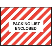 "Staples® Packing List Envelopes, 4-1/2"" x 6"", Red Striped Full Face ""Packing List Enclosed"", 1000/Case"