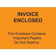 Staples® Packing List Envelopes, 4-1/2 x 6 Orange Full Face Invoice Enclosed-Do Not Destroy, 1000/Case