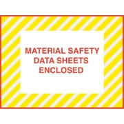 Staples® Packing List Envelopes, 4-1/2 x 6, Yellow Striped Full Face M.S.D.S. Inclosed, 1000/Case