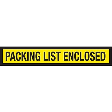 Staples Packing List Envelopes 6-3/4in. x 5in., Yellow Panel Face in.Packing List Enclosedin.