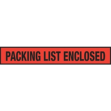 Staples Packing List Envelopes, 4-1/2in. x 7-1/2in., Red Panel Face in.Packing List Enclosedin.